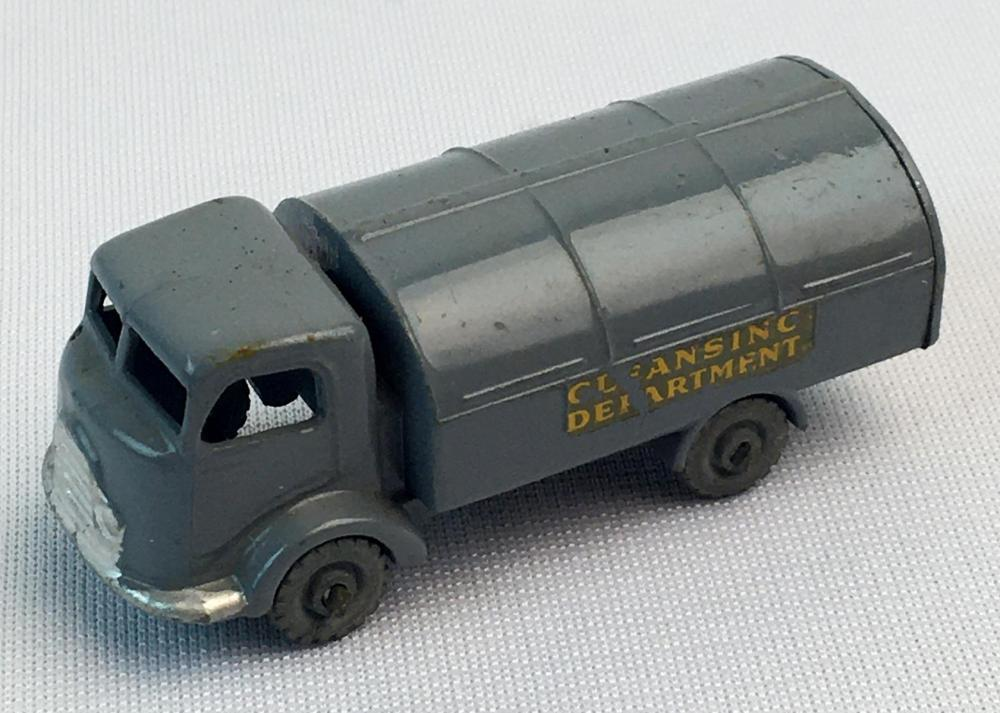 Vintage 1956 Lesney Matchbox No.38 Refuse Collector w/ Gray Wheels