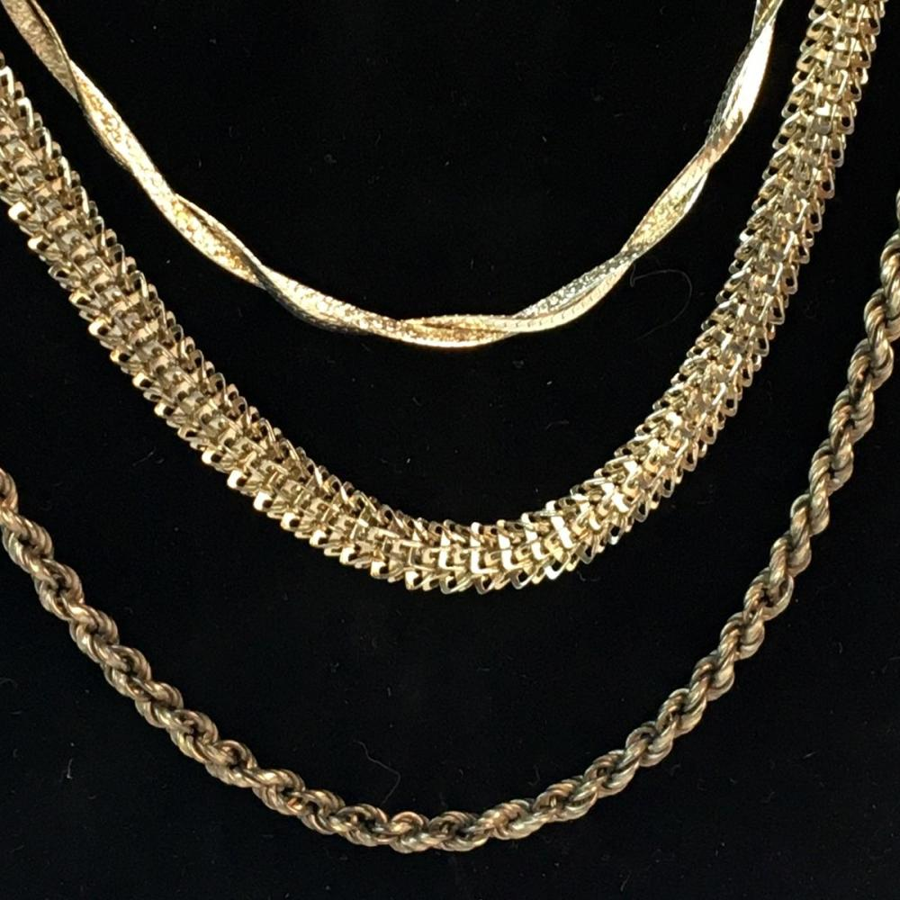 Vintage Lot of 5 Sterling Silver Necklaces (Mexico, Italy, Etc.)