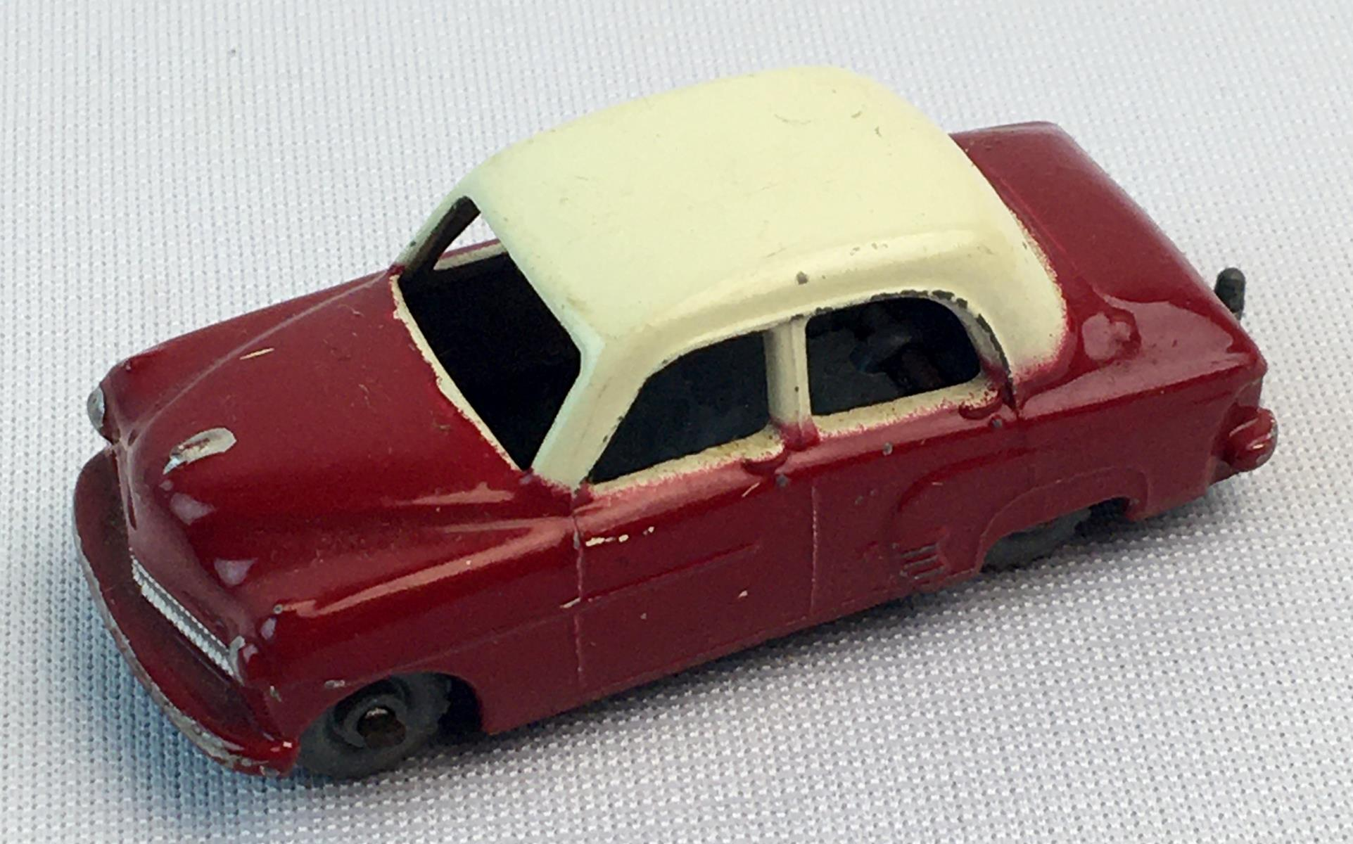 Vintage 1956 Lesney Matchbox No.22A Red and White Vauxhall Cresta w/ Gray Wheels