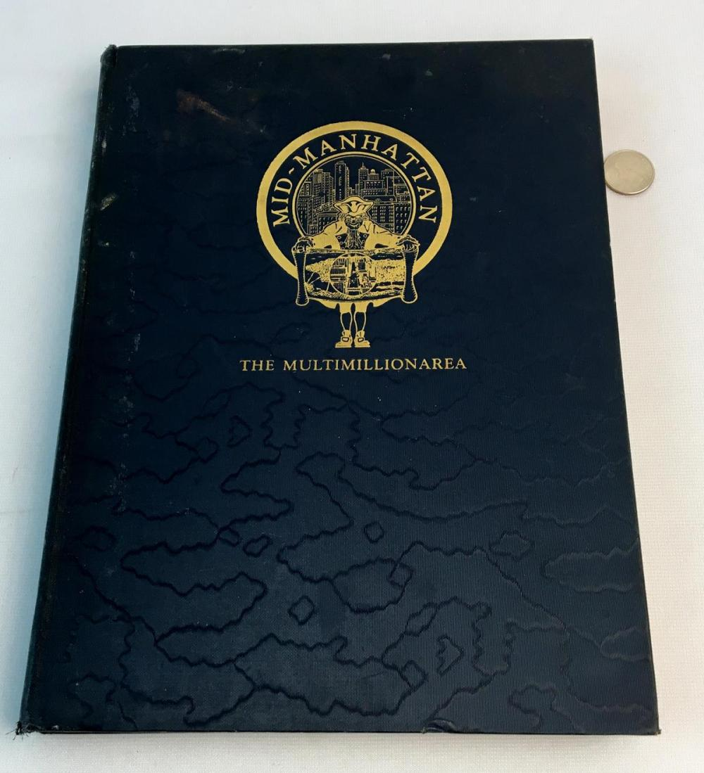 1929 Mid-Manhattan: The Multimillion Area by Martin Clary Illustrated FIRST EDITION