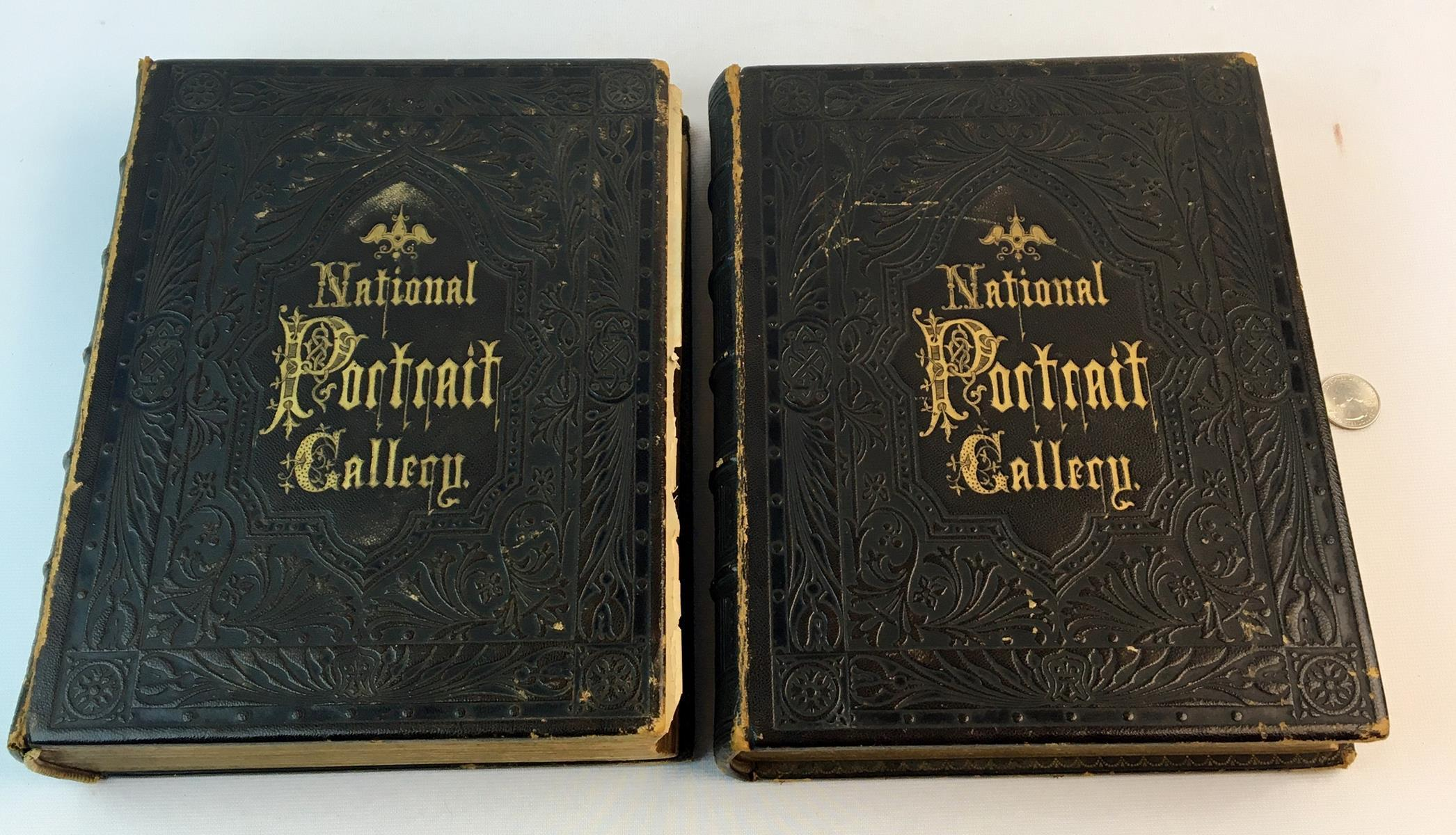 1862 National Portrait Gallery of Eminent Americans From Original Paintings by Alonzo Chappel Two Volume Set FIRST EDITION