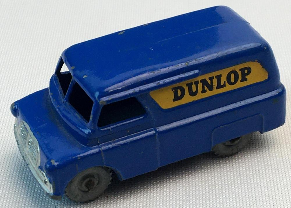 "Vintage 1956 Lesney Matchbox No. 25 Bedford ""Dunlop"" Van w/ Gray Wheels"