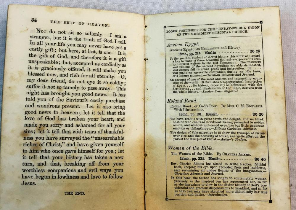 1853 The Ship of Heaven by James Hamilton, D.D. (United Methodist Episcopal Church) FIRST EDITION