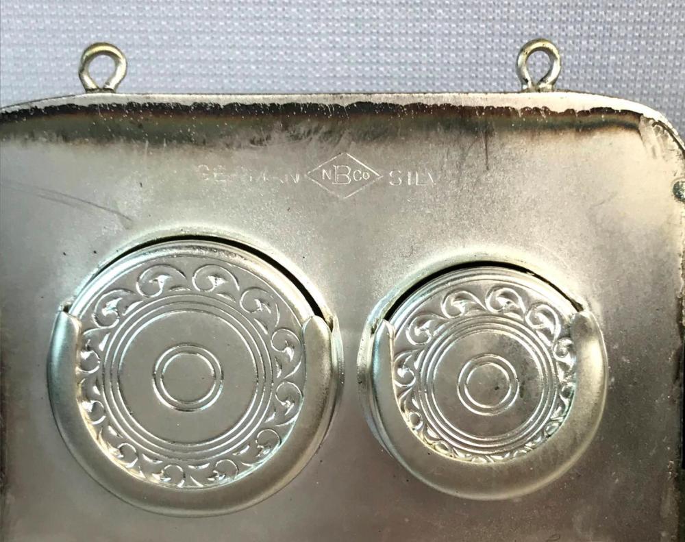 Vintage N.B. Co. German Silver Coin Purse Compact