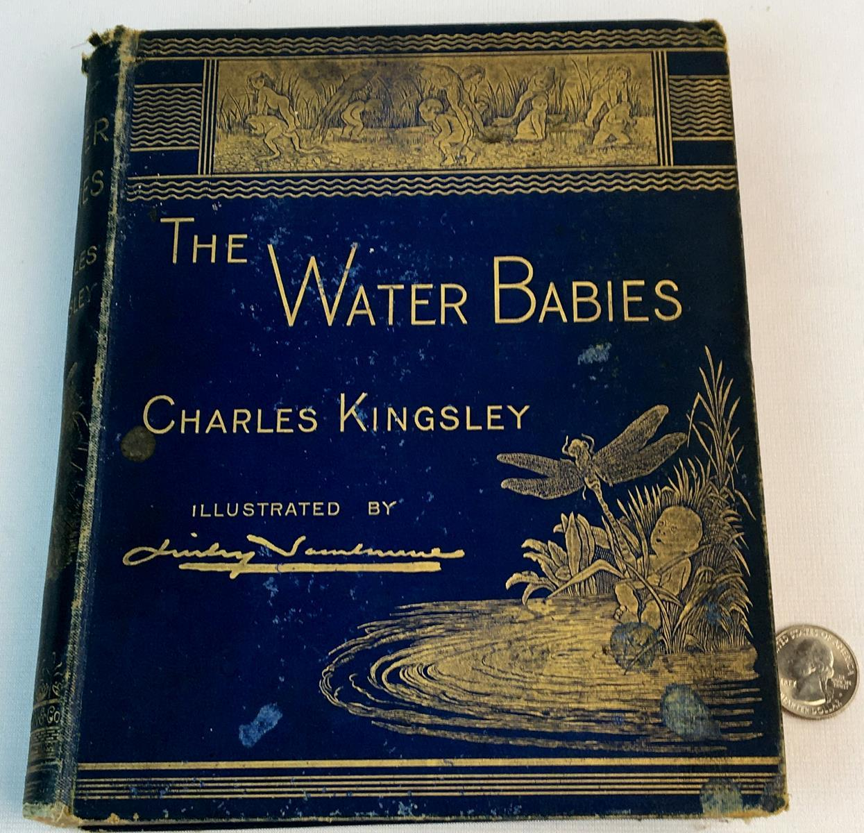 1885 The Water Babies: A Fairy Tale for a Land Baby by Charles Kingsley ILLUSTRATED