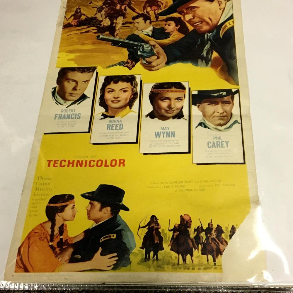 1954 They Rode West Columbia Pictures Western Movie Poster (Robert Francis, Donna Reed, Phil Carey)