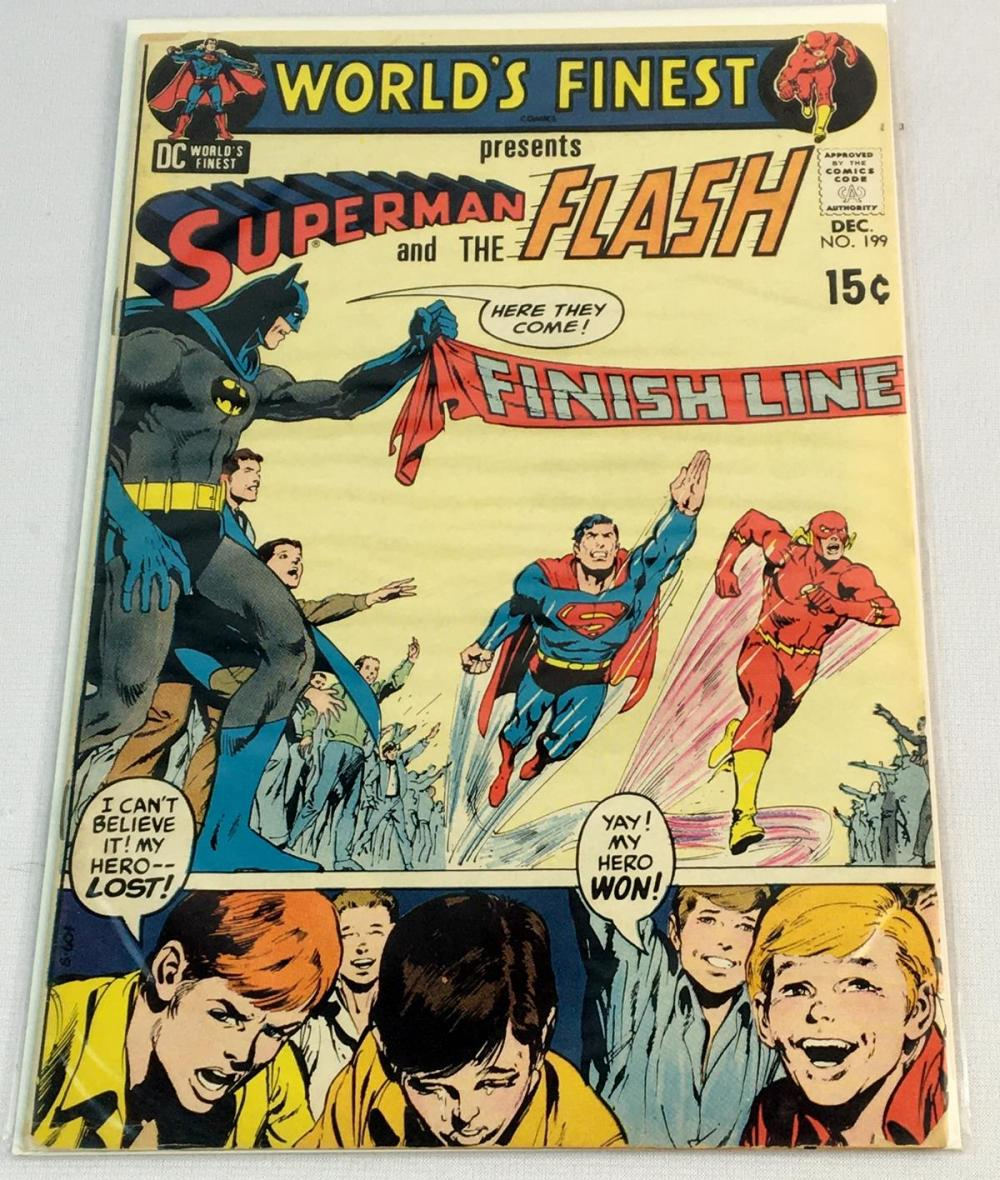 December 1970 World's Finest Presents Superman and The Flash No. 199 DC Comic Book