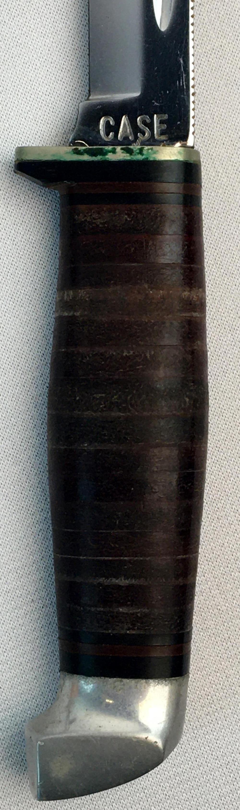 Vintage c. 1950 CASE Fixed Blade Knife w/ Case XX Tooled Leather Sheath