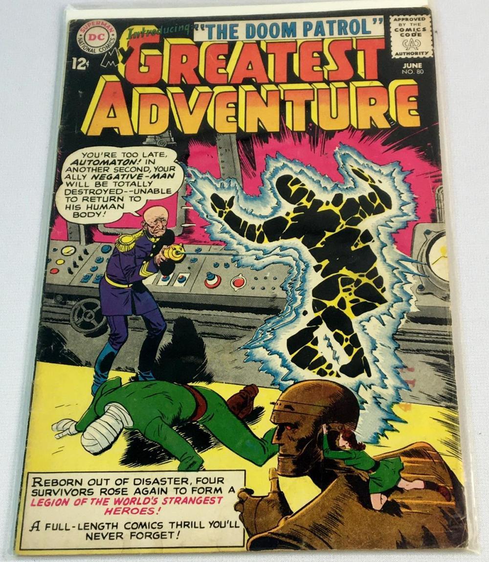 June 1963 My Greatest Adventure No. 80 DC Comic Book (The Doom Patrol)