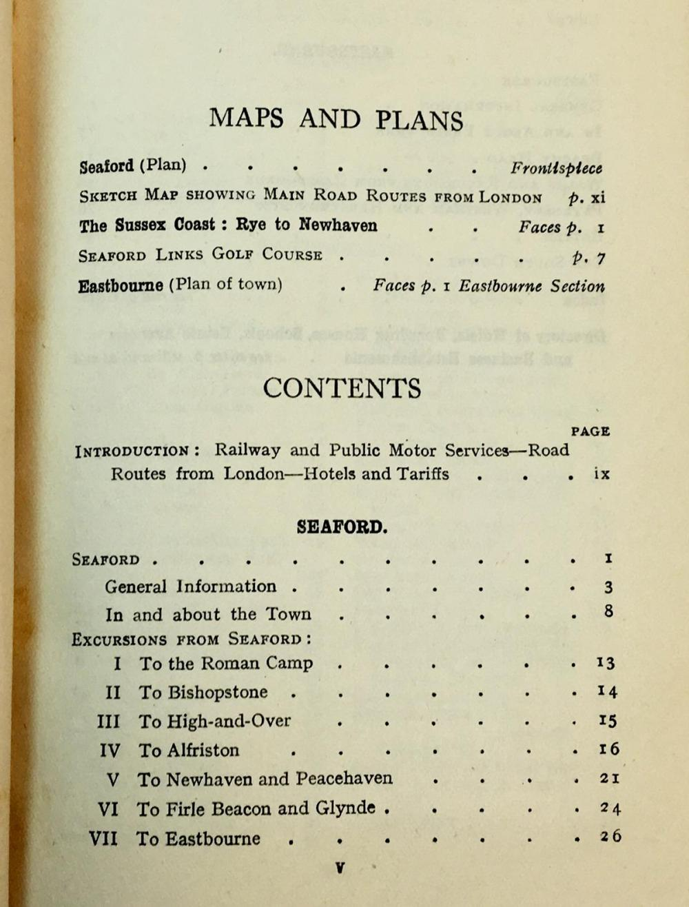 1929 Guide To Seaford, Newhaven, Lewes, Eastbourne and The Sussex Downs by Anon w/ Maps