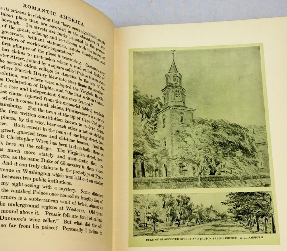 1913 Romantic America by Robert Haven Schauffler FIRST EDITION