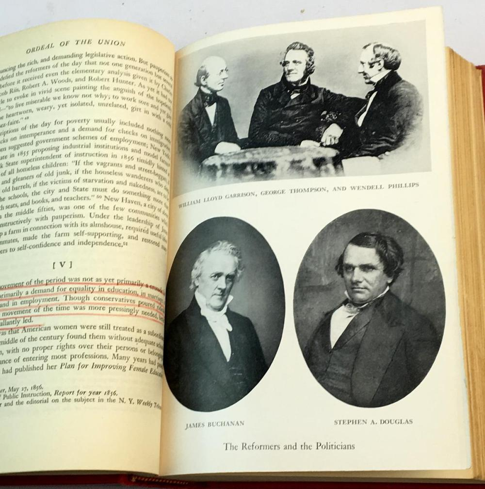 1947 Ordeal of The Union: Fruits of Manifest Destiny 1847-1852 by Allan Nevins FIRST EDITION