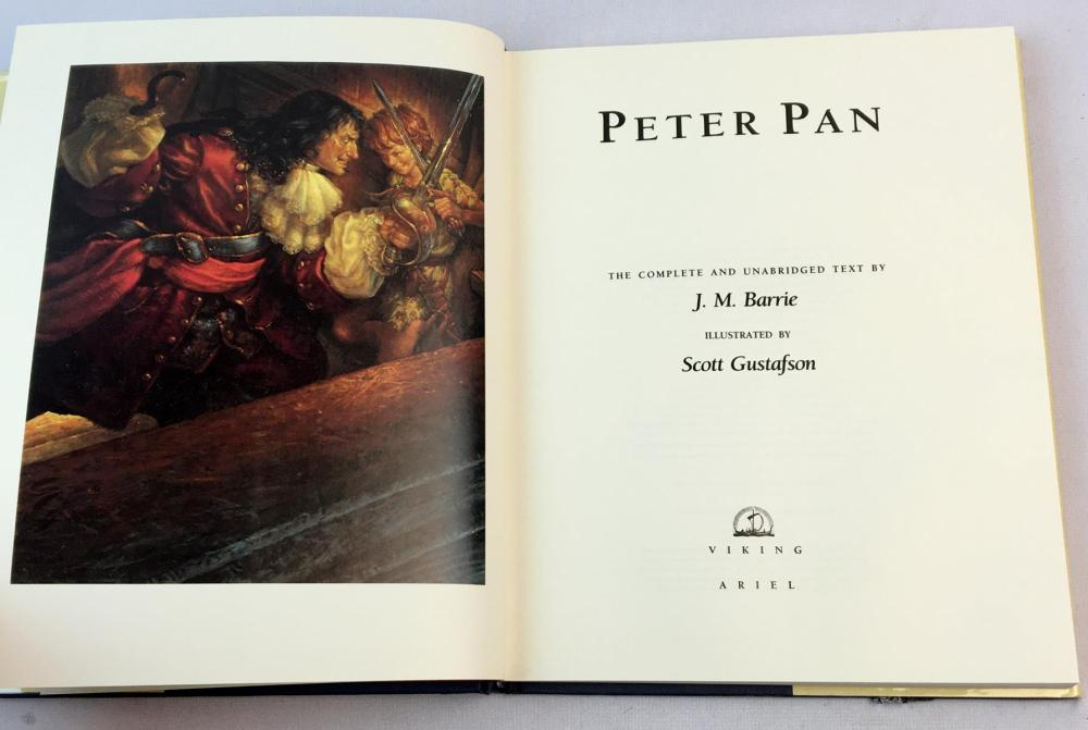 1991 Peter Pan: The Complete and Unabridged Text by J.M. Barrie w/ Dust Jacket