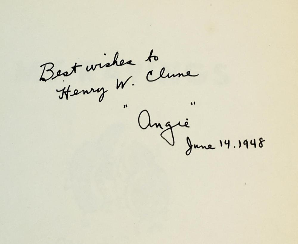 1948 My Ravings by Elbert Angevine SIGNED FIRST EDITION