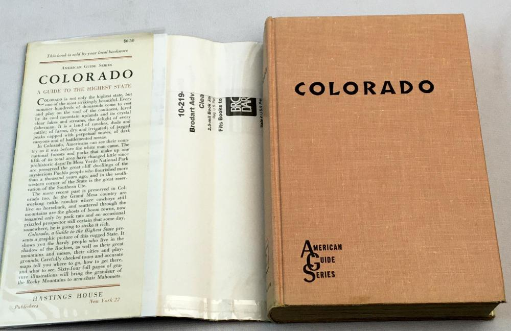 1959 American Guide Series: Colorado, A Guide to The Highest State w/ Dust Jacket