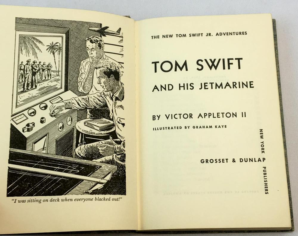 1954 Tom Swift and His Jetmarine by Victor Appleton II ILLUSTRATED