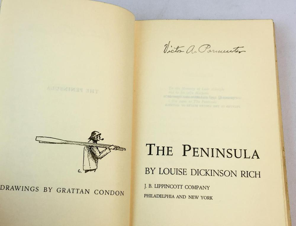 1958 The Peninsula by Louise Dickinson Rich w/ Dust Jacket