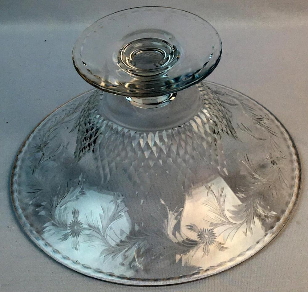 Antique Hawkes Stunning Large Talisman Pattern Crystal 12