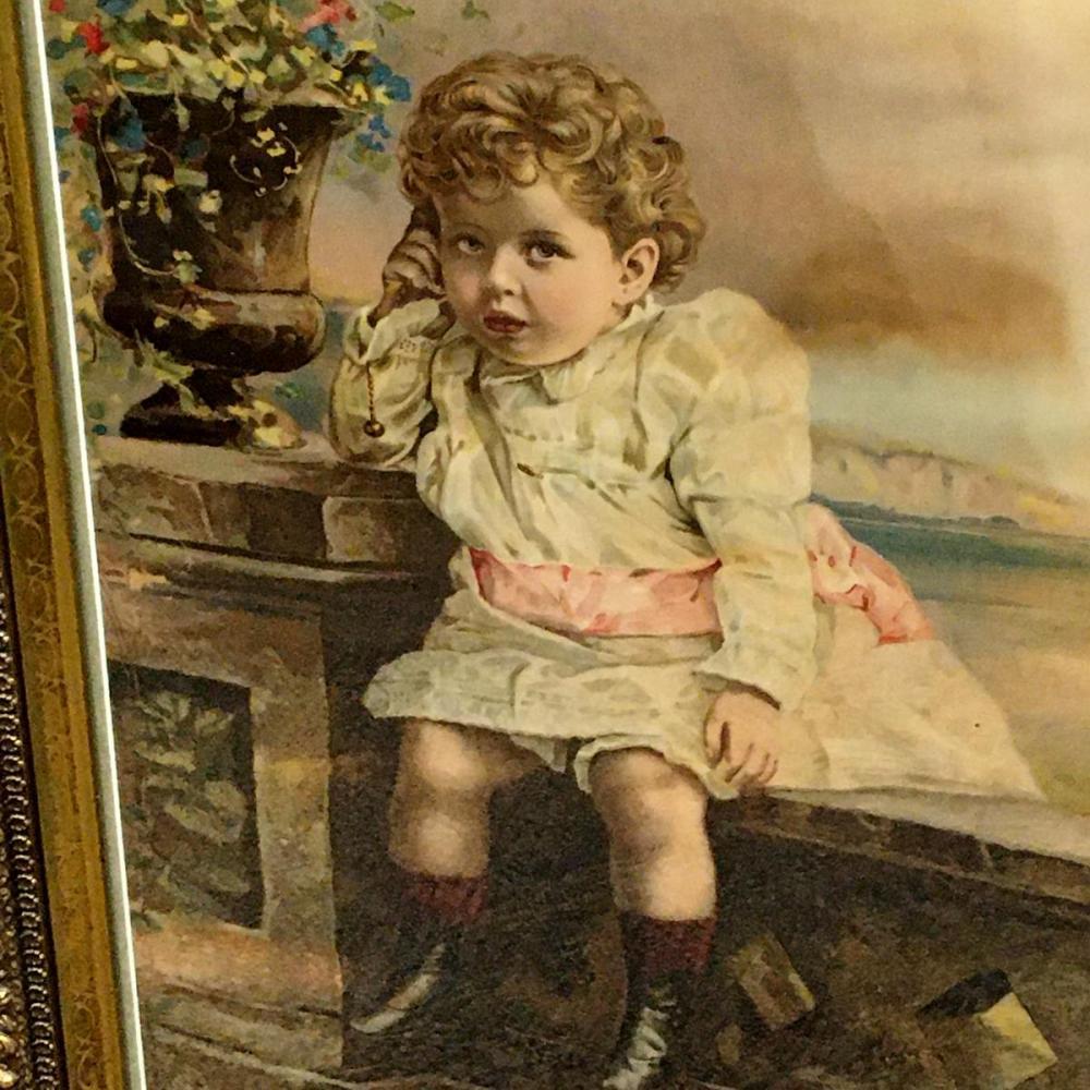 Antique c. 1890 Toddler Girl