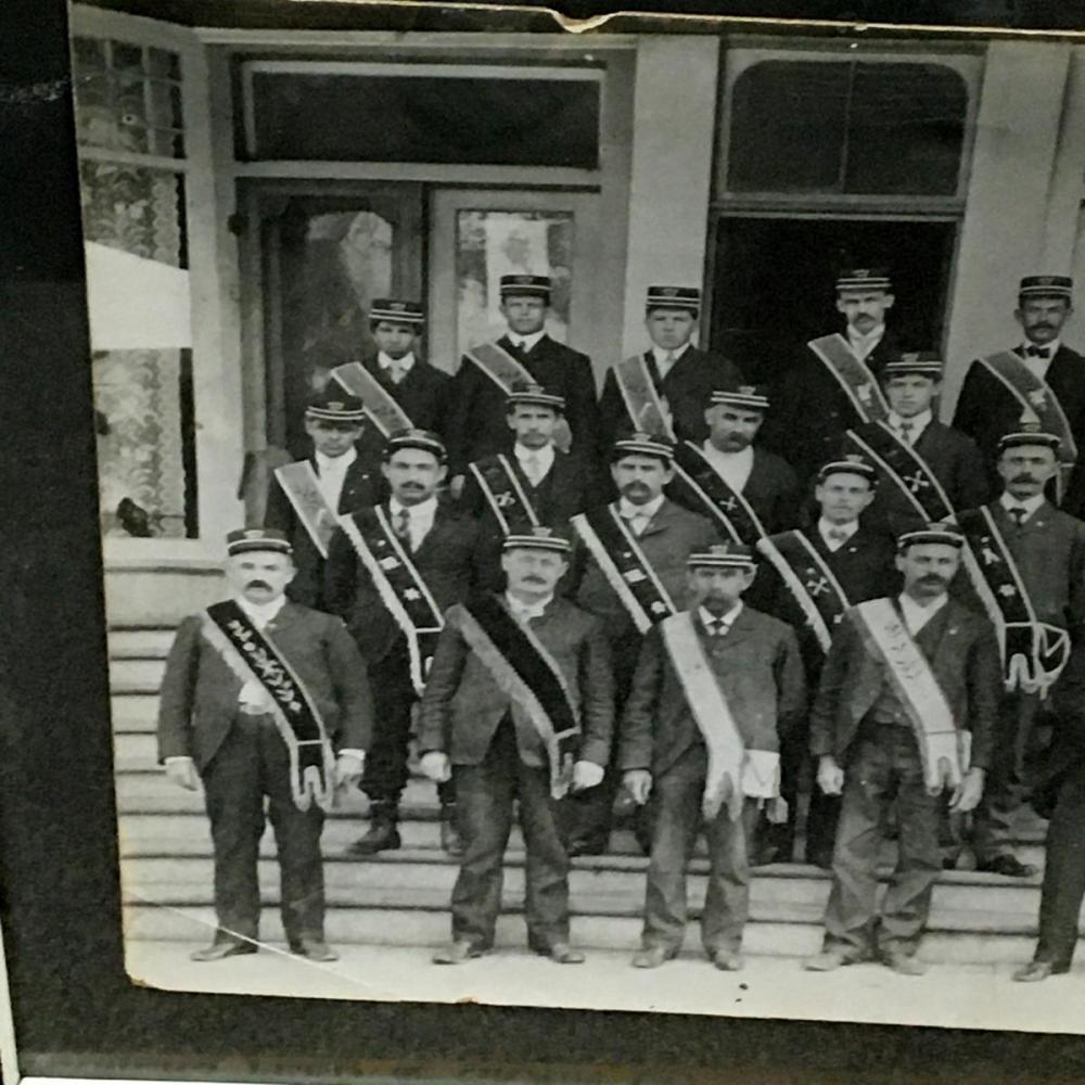 Antique c. 1880 Masonic Highland Lodge #184 I.O.O.F. Baltimore, MD Member Large Cabinet Photograph FRAMED