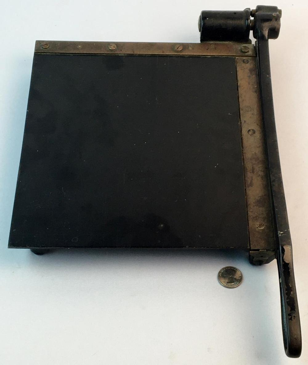 Antique Eastman No.10 Cast Iron Trimming Board Photo Paper Cutter
