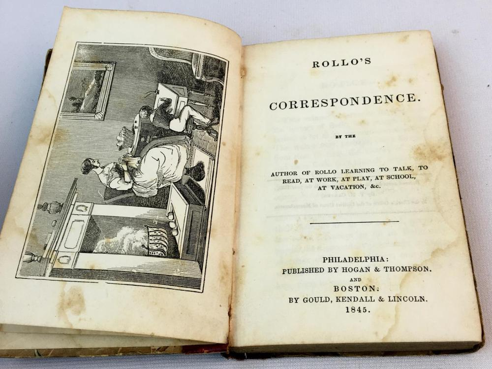 1845 Rollo's Correspondence by Jacob Abbott ILLUSTRATED