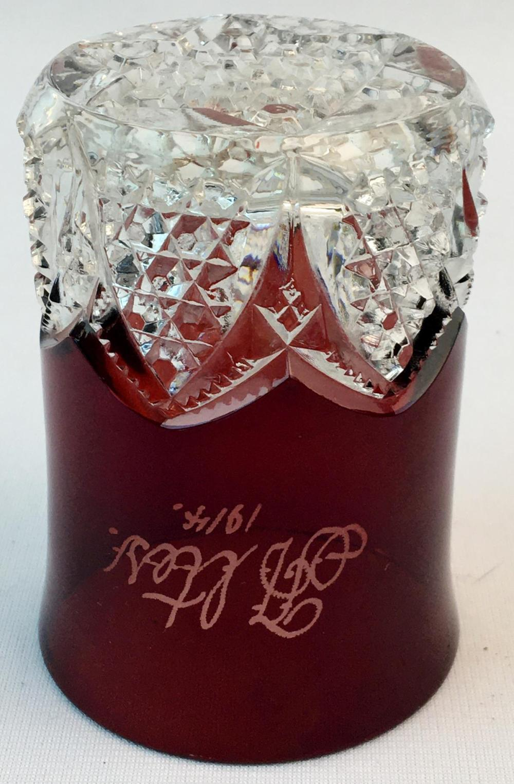 Antique 1914 Ruby Flash Glass