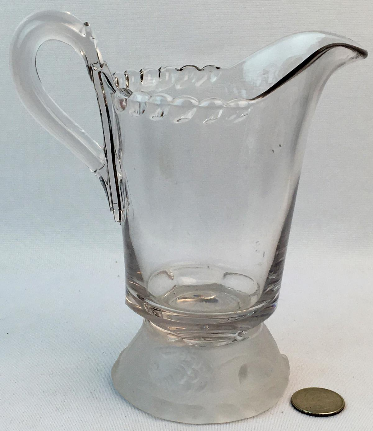 Antique Early American Pattern Glass (EAPG) Lion Glass Creamer / pitcher by Gillinder & Sons