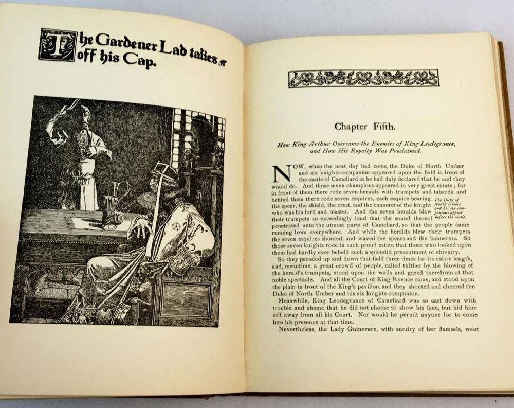 1918 The Story Of King Arthur And His Knights by Howard Pyle ILLUSTRATED