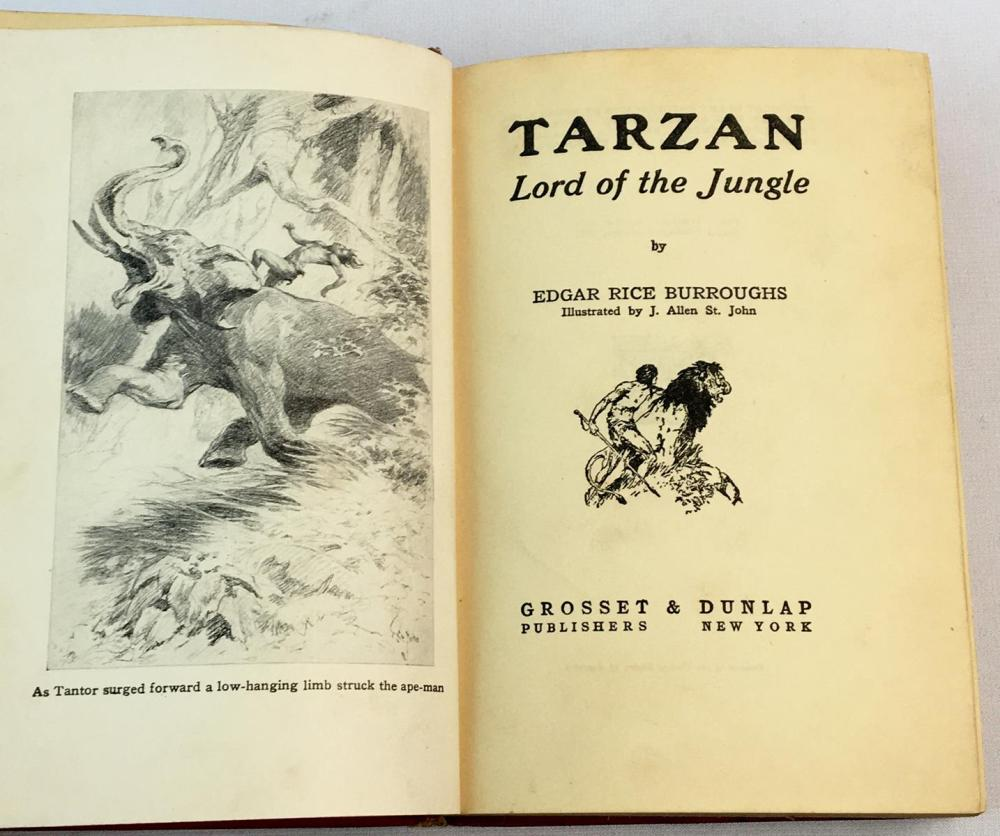 1928 Tarzan: Lord of The Jungle by Edgar Rice Burroughs Illustrated FIRST EDITION