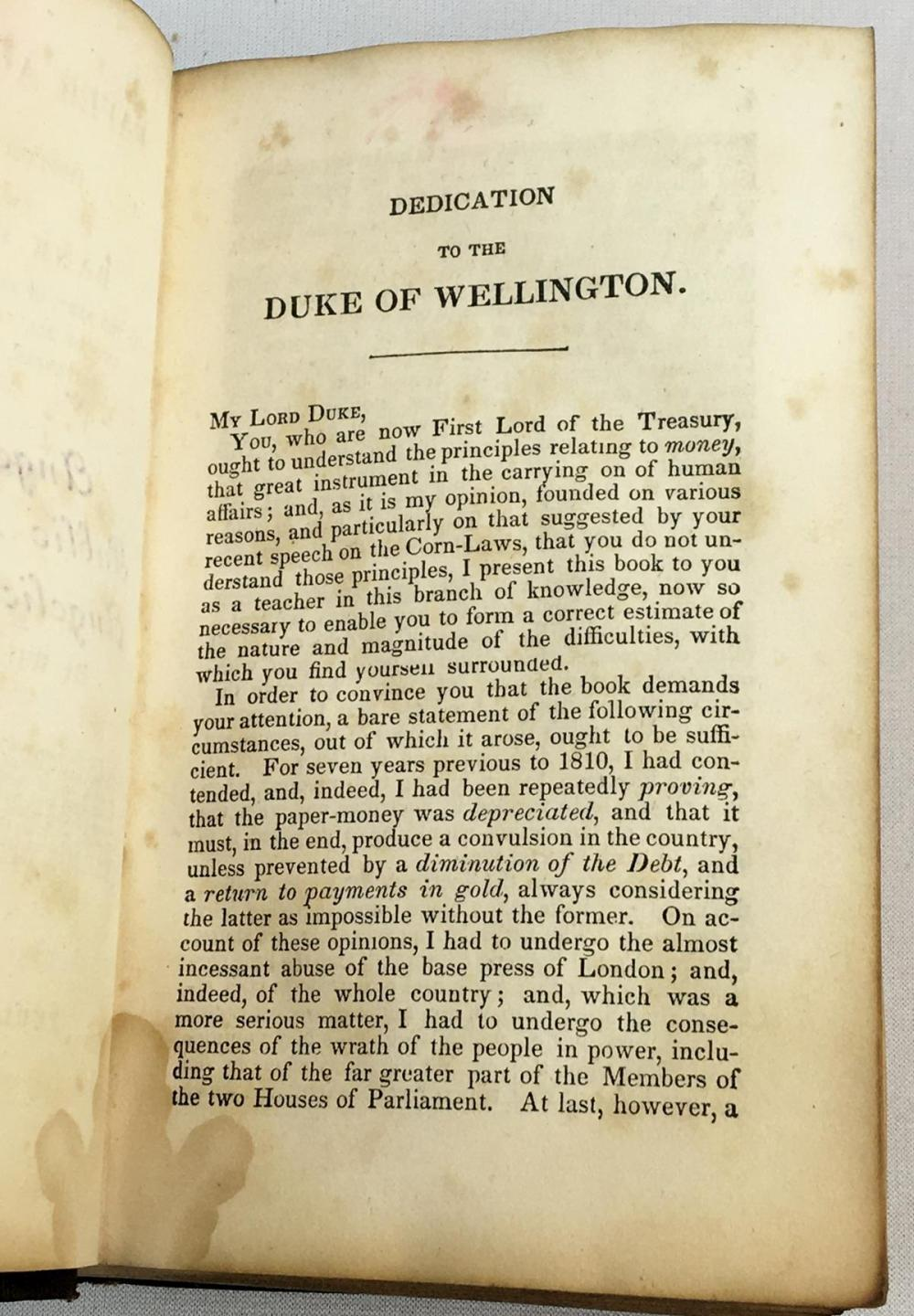 1846 Paper Against Gold or The Mystery of The Bank of England by William Cobbett FIRST EDITION