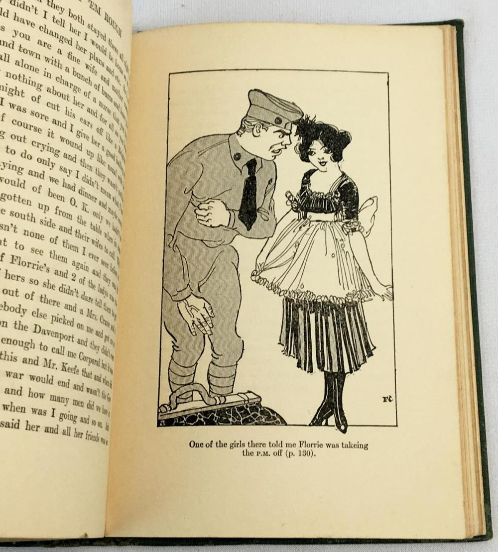 1918 Treat 'Em Rough: Letters From Jack The Kaiser Killer by Ring W. Larder Illustrated FIRST EDITION