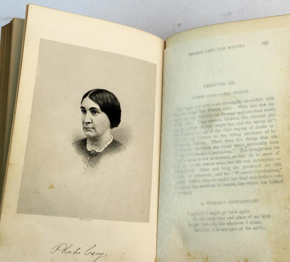 1873 A Memorial of Alice and Phoebe Cary With Some of Their Later Poems by Mary Clemmer Ames FIRST EDITION