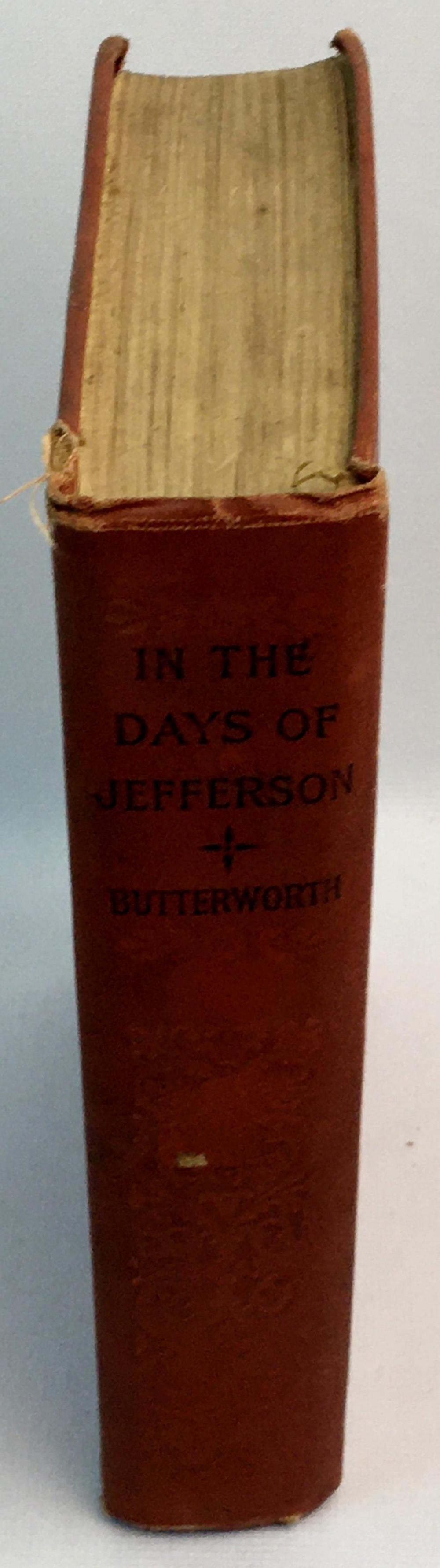 1912 In The Days of Jefferson or The Six Golden Horseshoes: A Tale of Republican Simplicity by Hezekiah Butterworth
