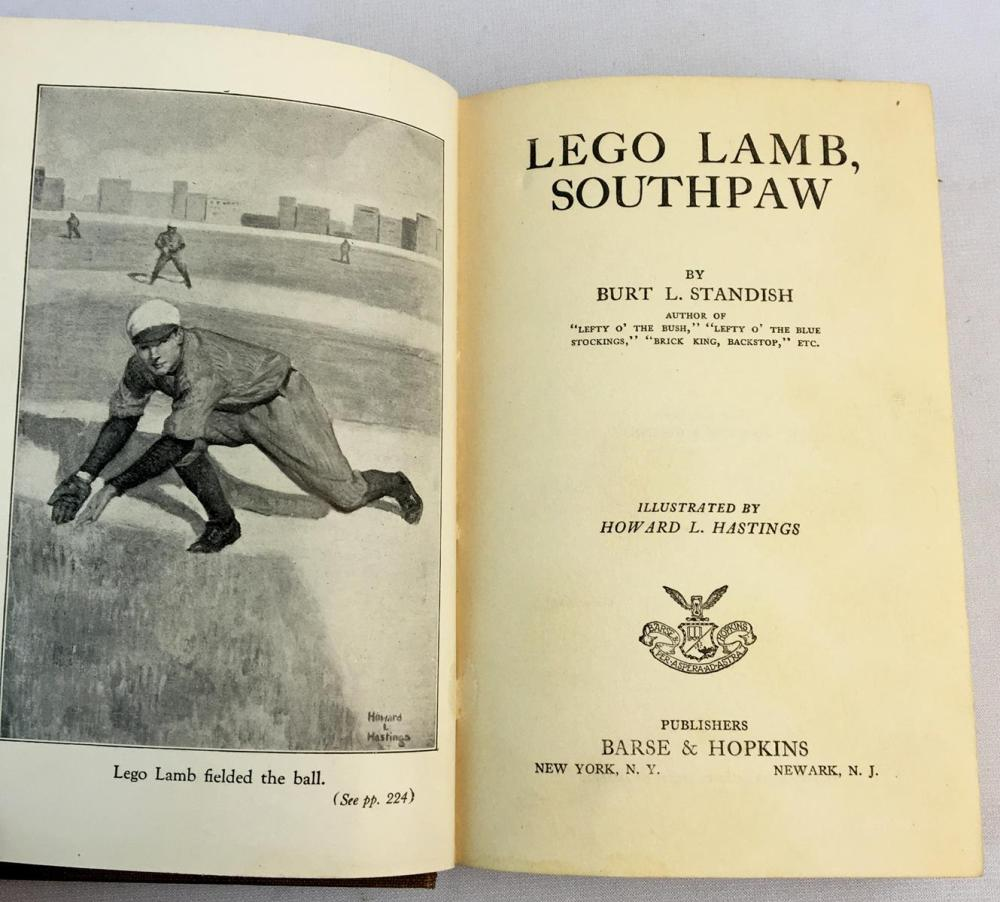 1923 Lego Lamb, Southpaw (The Big League Series) by Burt L. Standish Illustrated FIRST EDITION