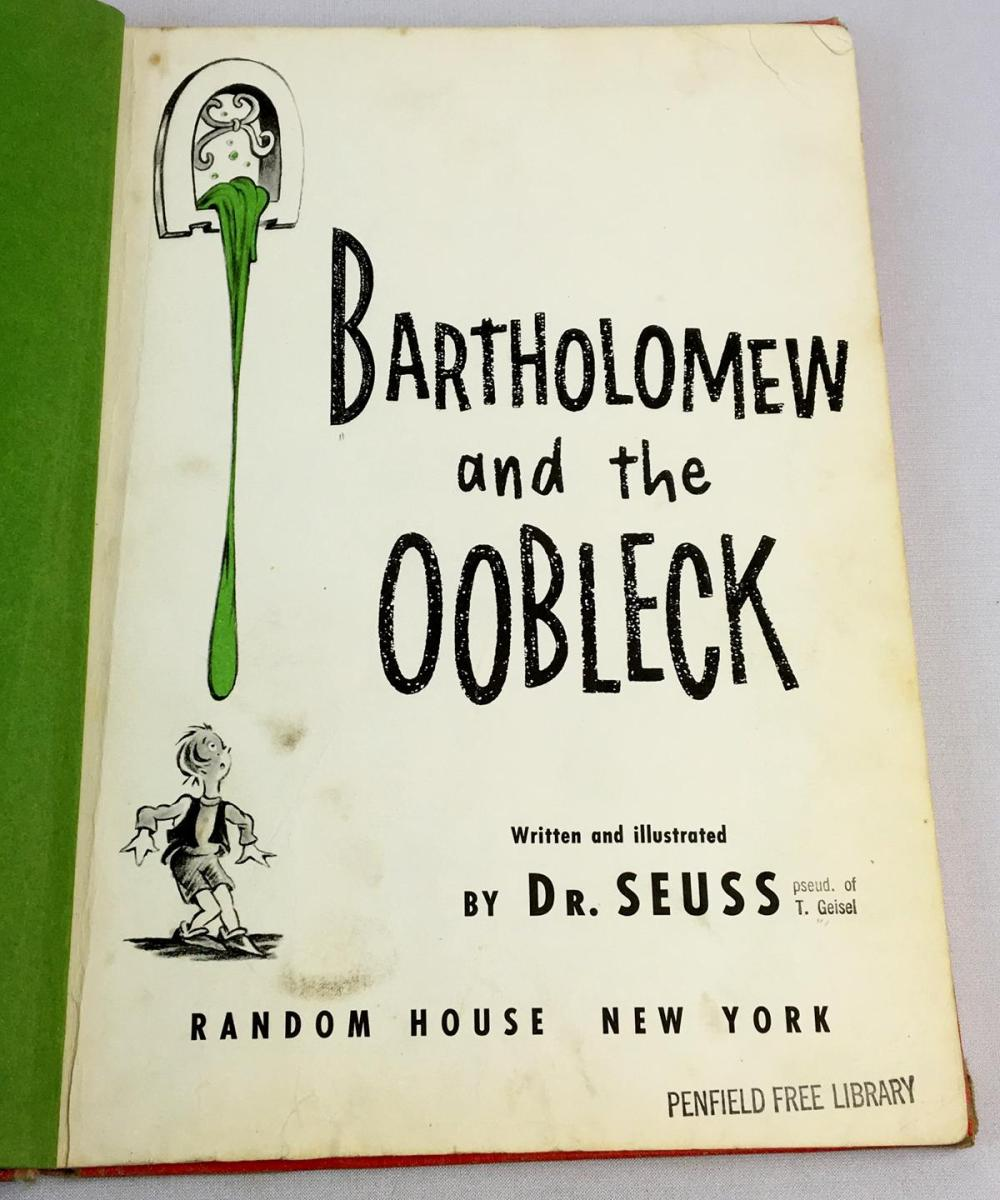 1949 Bartholomew and the Oobleck by Dr. Seuss FIRST EDITION