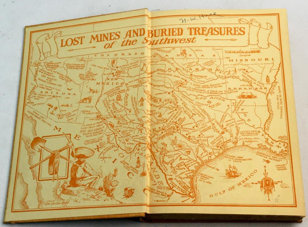 1931 Coronado's Children: Tales of Lost Mines and Buried Treasures of the Southwest by J. Frank Dobie ILLUSTRATED