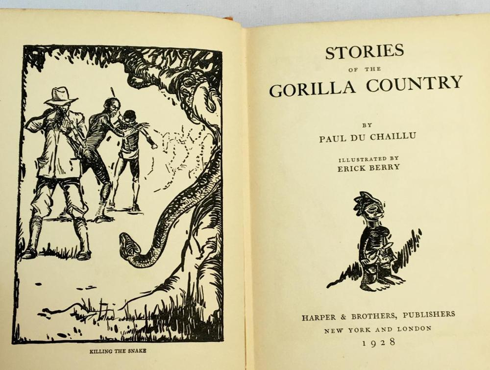 1928 Stories of The Gorilla Country by Paul Du Chaillu Illustrated FIRST EDITION