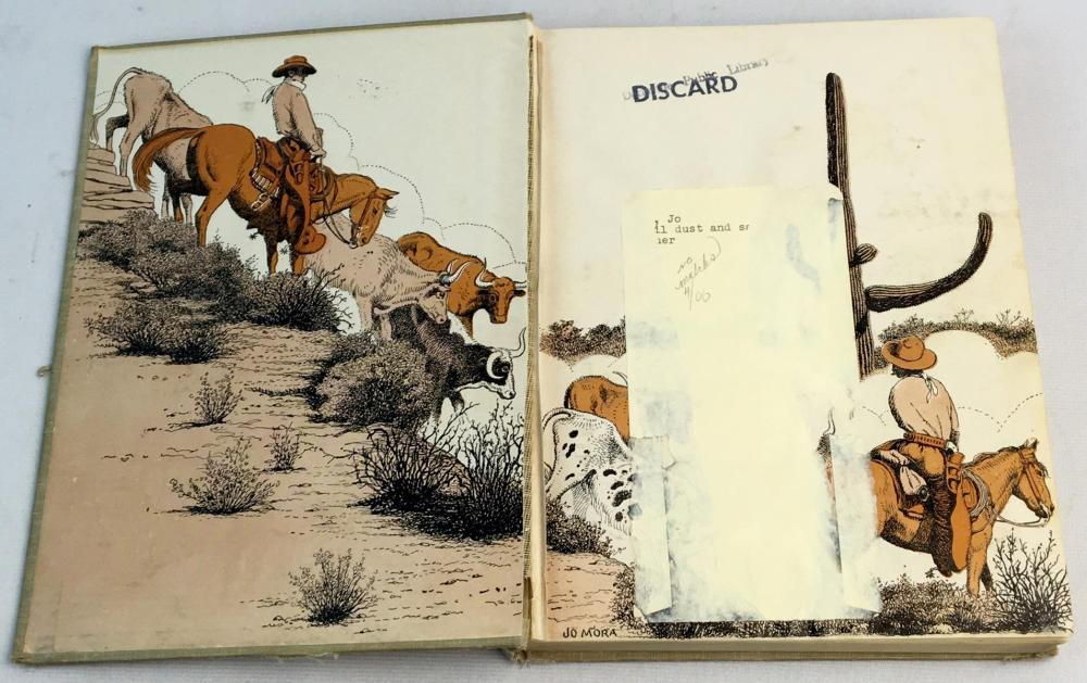 1946 Trail Dust & Saddle Leather by Jo Mora Illustrated FIRST EDITION