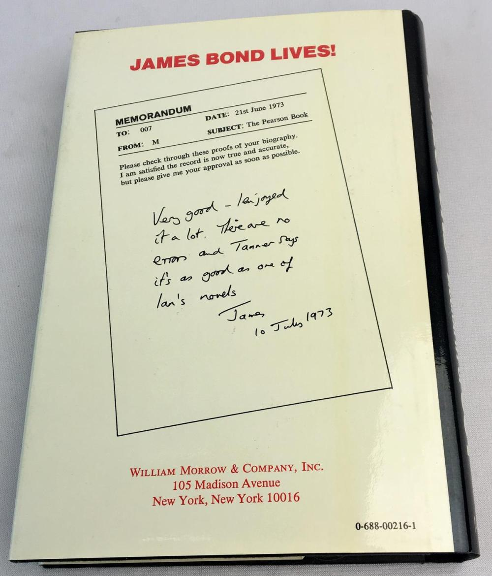 1973 James Bond The Authorized Biography of 007 by John Pearson FIRST EDITION w/ Dust Jacket
