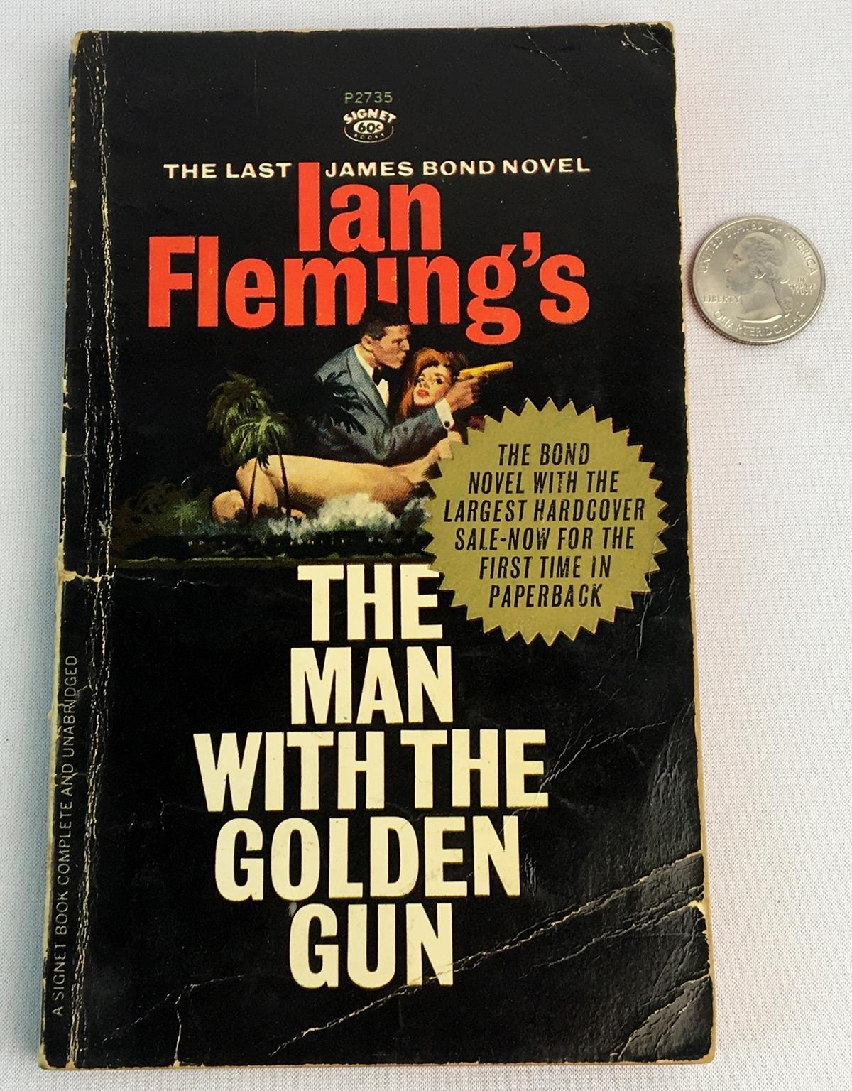 1965 The Man With The Golden Gun by Ian Fleming FIRST PB EDITION