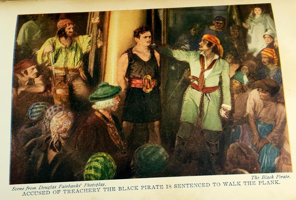 1926 The Black Pirate by Mac Burney Gates Photoplay Book FIRST EDITION