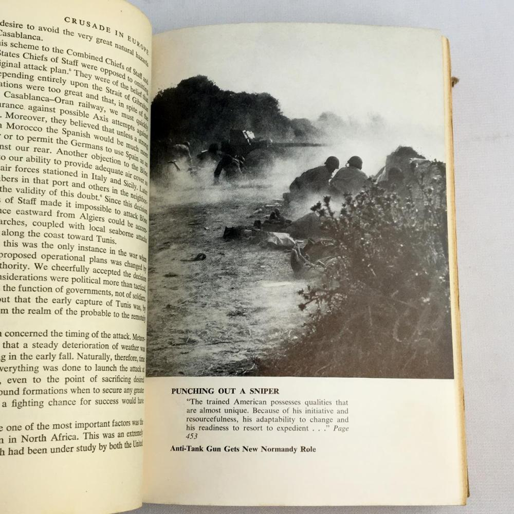 1948 Crusade in Europe by Dwight D. Eisenhower Illustrated FIRST EDITION
