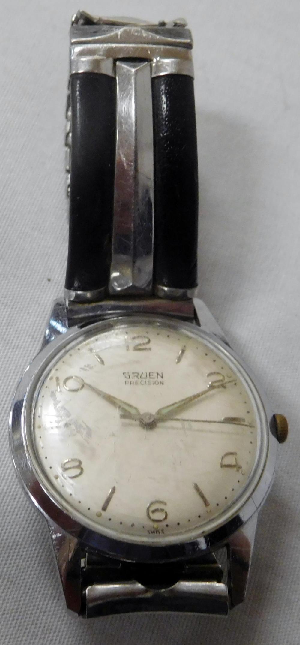 Vintage Gruen Precision Men's Wristwatch RUNS