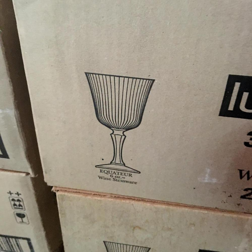 Large Lot of 432 Luminarc 6 oz. Wine Glasses (18 cases)