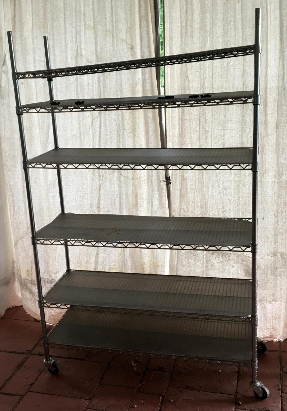 Adjustable Metal Shelving Rack on Wheels