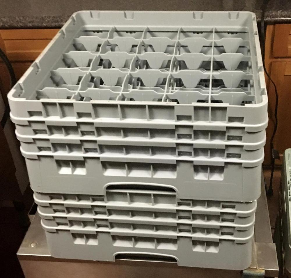 Large Lot of 19 Dishwasher Rack w/ Various Glasses (Various Sizes)