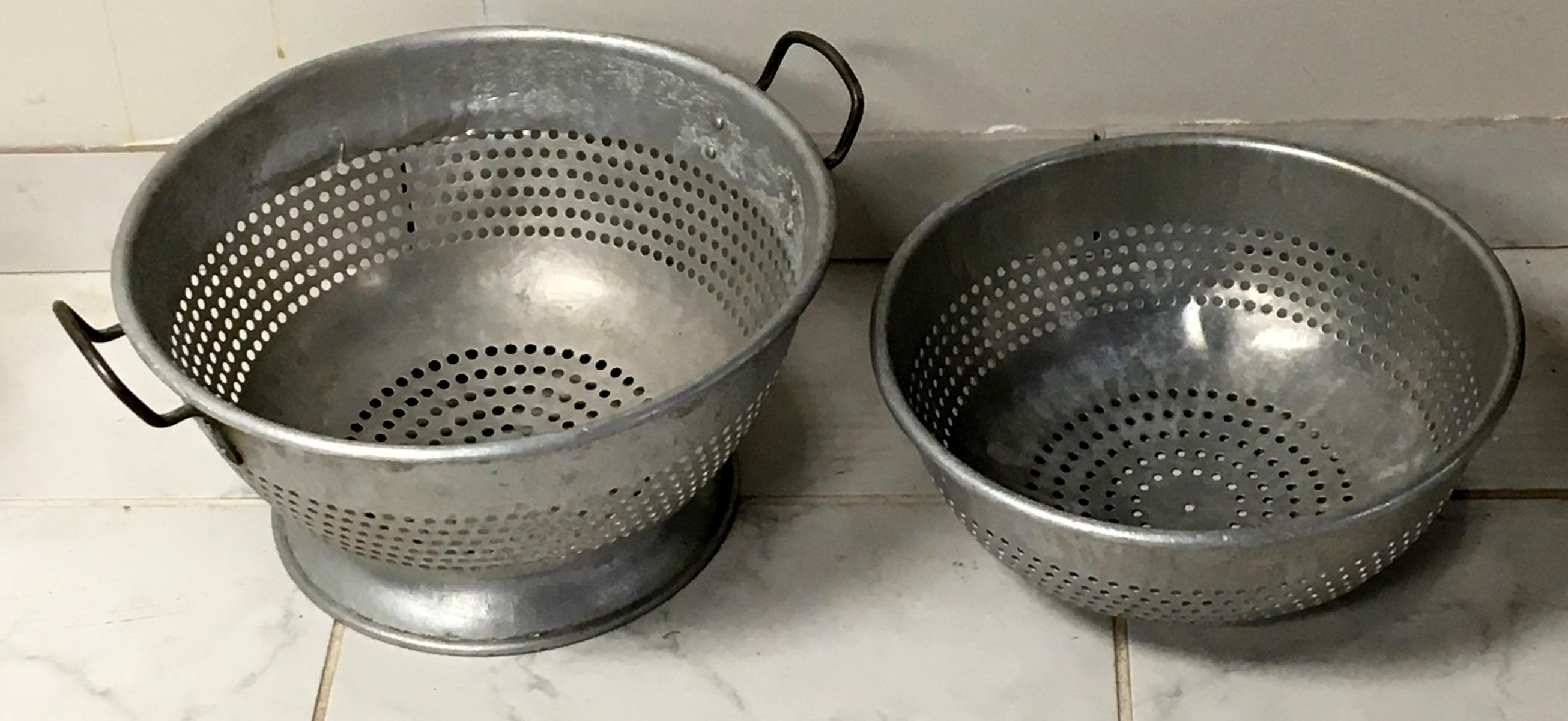 Lot of 2 Commercial Colanders