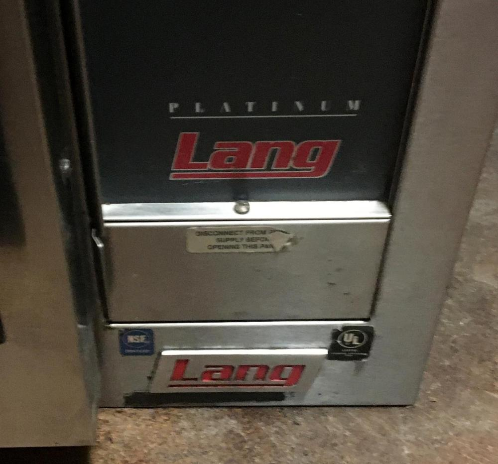 Lang Platinum EHS-PT Stainless Steel Convection Oven on Wheels