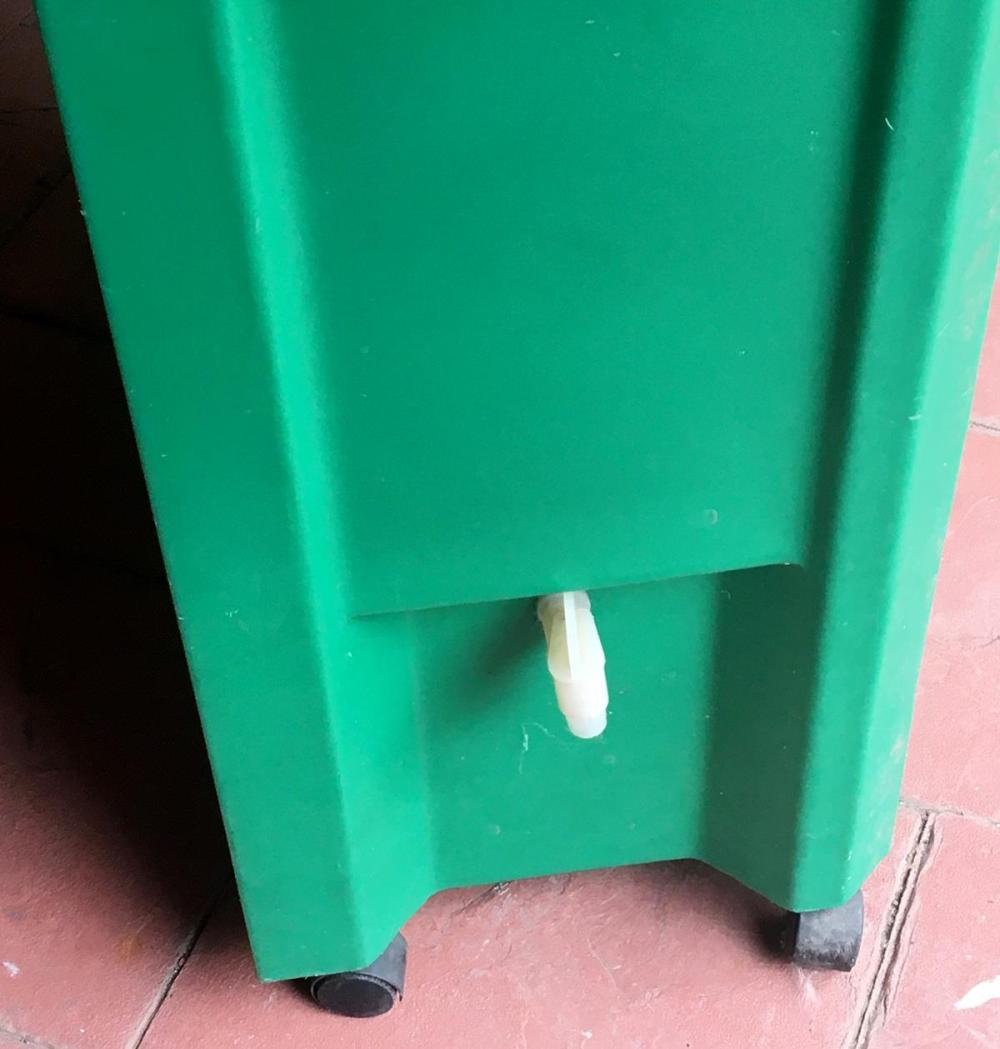 Green Plastic Commercial Portable Cooler on Wheels